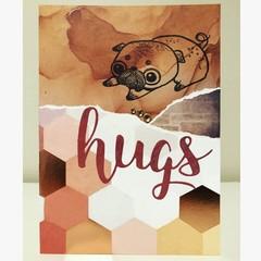 Pug hugs card