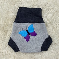 Large Butterfly Wool Nappy Cover