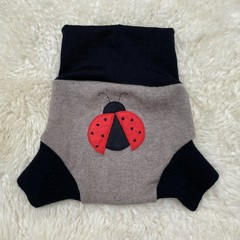 Large Ladybird Wool Nappy Cover