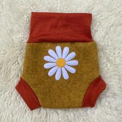 Medium Daisy Wool Nappy Cover