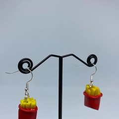 Packet of French Fries Handmade Drop Earrings