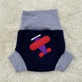 Medium Airplane Wool Nappy Cover