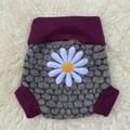Large Daisy Wool Nappy Cover