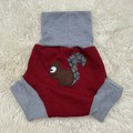Extra Large Squirrel Wool Nappy Cover