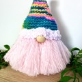 Colourful Gnome with Patterned Hat