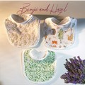 Benji and Hazel Handmade SetPack of 3 Muslin Terry thick Baby Teething Bibs