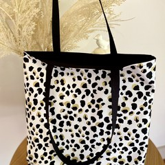Leopard Print Tote Bag (Fully Lined)