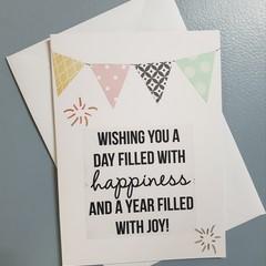 Bunting Birthday Card
