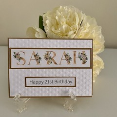 Custom Made Card - You choose the Words for a Birthday Card or Anniversary Card