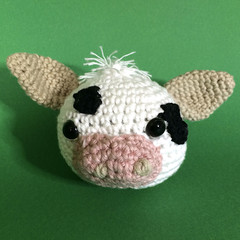 White Cow with Black Markings - Ball Toy