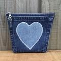 Denim Pocket Purse - Denim Heart
