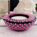 Shaded Pink and White Hand Painted Small Tealight Candle Holder