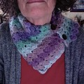 Button up Cowl in 'Unicorn Mix' Yarn with Free Small Gift Card