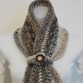 Brown tone scarf