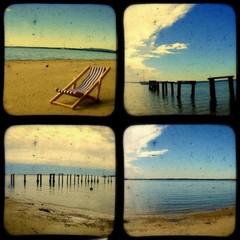 Set of 4 TtV Beach Photgraphy Prints, 5x5 inches