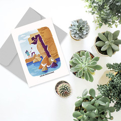 HIKING LOVE Card, Explore Dream Discover Greeting Card, Great Outdoors Nature