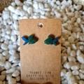 Resin fish stud earrings