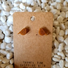 Resin bird stud earrings