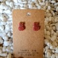 Resin cat stud earrings