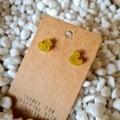 Resin rubber ducky stud earrings