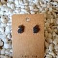 Resin rabbit stud earrings