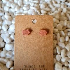 Resin pig stud earrings
