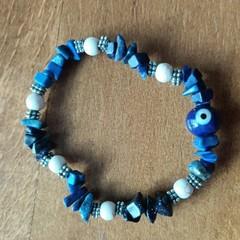 Chip Gemstone Stretch Bracelet Collection