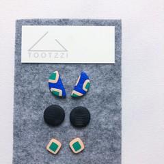 HOPSCOTCH - Emerald + Cobalt Trio Stud Gift Pack