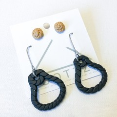 THE POTTERS DAUGHTER - Rope Pots Platted Dangles and Stud Twin Pack