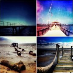 Pier Photographs, Set of 4 Archival Prints