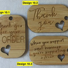 Thank you Tags - Card style #10 from Bamboo. From $0.49 per Tag - FREE Shipping