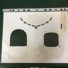 Paper basket templates.