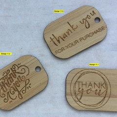 Thank you Tags - Card style #11 from Bamboo. From $0.49 per Tag - FREE Shipping