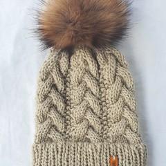 ADULT GUMNUT BEANIE WITH DOUBLE BRIM - 100% Australian Wool