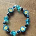 Lapis Lazuli & Sunshine Bead Stretch Bracelet