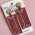 Colourful Rectangle Earrings