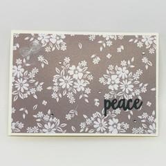 Inspirational Card - Peace - shimmer paper mushroom print