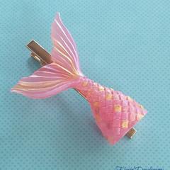 Mermaid tail hair clip