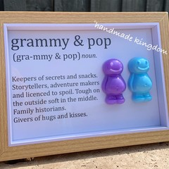 Nanny and Grandad Jelly Baby Definition frame