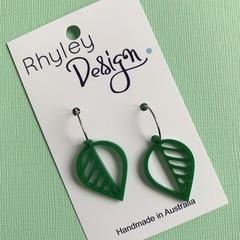 Acrylic Leaf Earrings