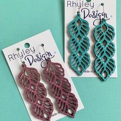 Statement Triple Leaf Earrings