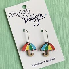 Rainbow Umbrella Earrings