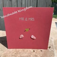 Mr & Mrs Sea Glass Handmade card