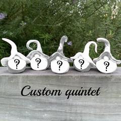 Custom gnomes - quintet