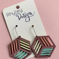 Colourful Geometric Cube Earrings