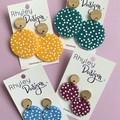 Coloured Dot Earrings