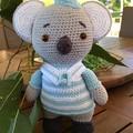 KOALA  hand crocheted, quality yarn, very soft stuffing, safety eyes,