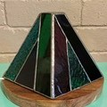 Unique Stained Glass Geometric Lamp