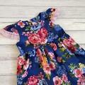 Floral Tea Party Dress, Size 3 or 4 Girls Dresses