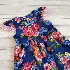 Floral Tea Party Dress, Size 4 or 5 Girls Dresses